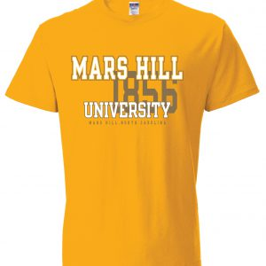 023389de866 JERZEES GOLD T-SHIRT MARS HILL UNIVERSITY W EST. DATE   MARS HILL