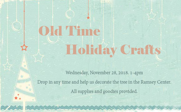 Old Time Holiday Crafts