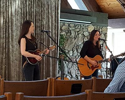 Alathea sing in Broyhill Chapel, Feb. 2017