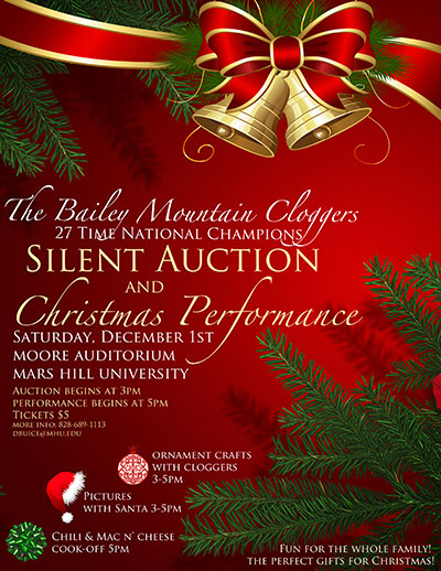 BMC silent auction and Christmas performance