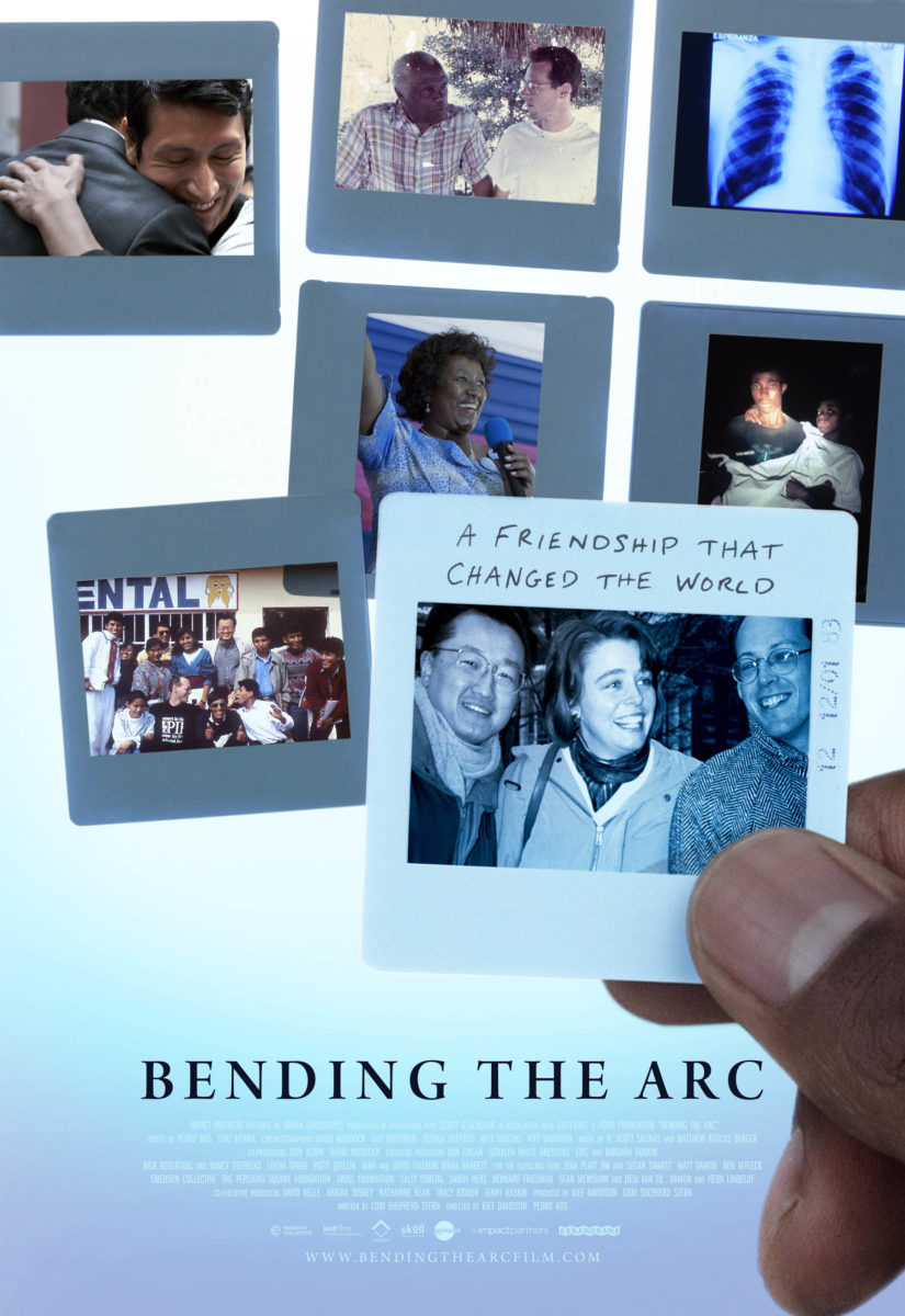 Movie poster with photos for Bending the Arc