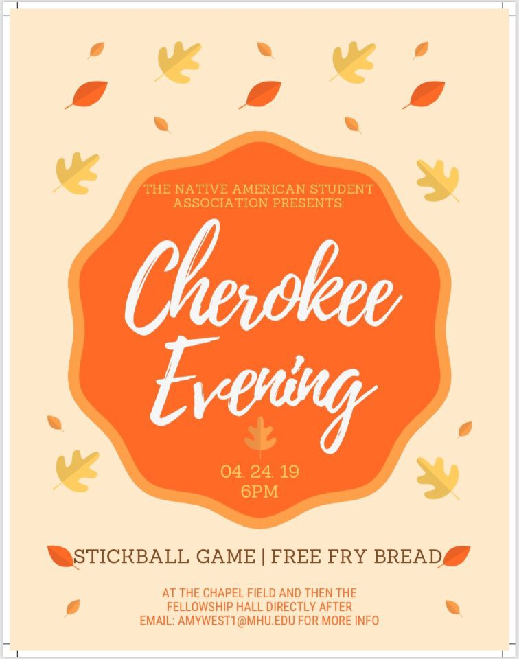 Cherokee Evening - Stickball game and free fry bread