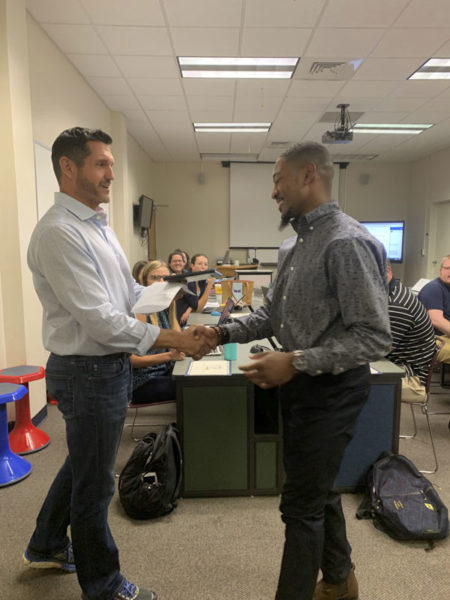 Malik wins outstanding student teacher award