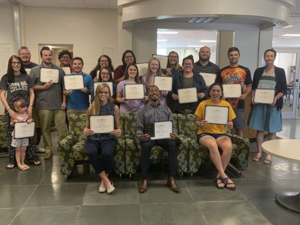 student teachers with certificates