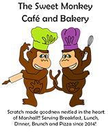 Sweet Monkey Cafe and Bakery: 2019 Lunsford Festival Sponsor