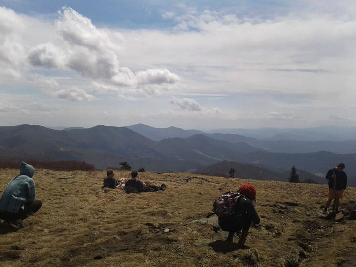 Students on Roan Mountain