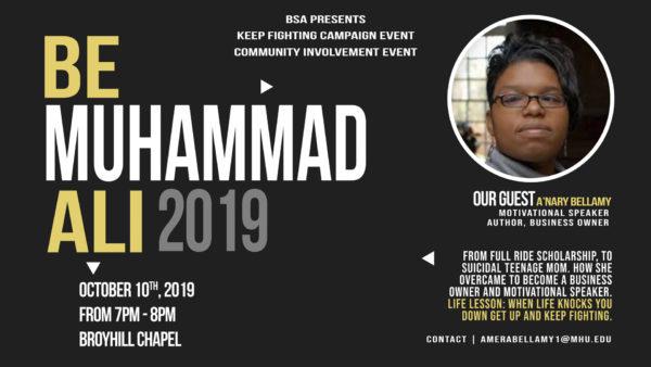 Be Muhhamad Ali 2019 flyer