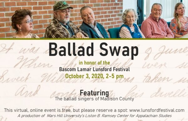 Ballad Swap in honor of the 2020 Lunsford Festival