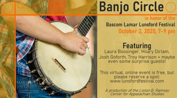 Banjo Circle in honor of the 2020 Lunsford Festival