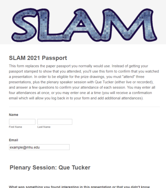 SLAM 2021 passport form